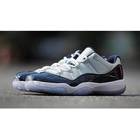 "Air JORDAN 11 Retro ""UNC"" Basketball Shoes Low Sneakers Cushion Basketball Shoes Jordan For Men Women"