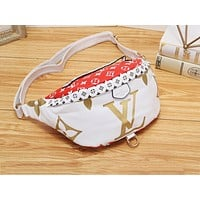 Samplefine2 LV casual lady matching color printed Fanny pack fashion diagonal across the chest bag #2