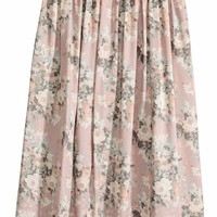 Embroidered skirt - Light pink/Floral - Ladies | H&M GB