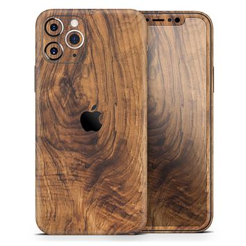 Raw Wood Planks V11 - Skin-Kit compatible with the Apple iPhone 12, 12 Pro Max, 12 Mini, 11 Pro or 11 Pro Max (All iPhones Available)
