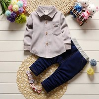 BibiCola 2017 Spring Kids Clothes Baby Boys Clothing Set Toddler Boy Clothing  Children  Kids Boys Costume  sport Outfits