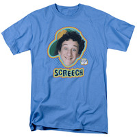 SAVED BY THE BELL/SCREECH - S/S ADULT 18/1 - CAROLINA BLUE -