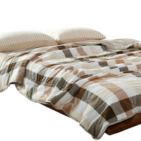 Svetanya stiching Quilt washed Cotton thin Duvet Twin Queen Full King Size Comforter 100% Cotton bedding Throw Blanket Plaid