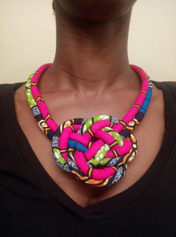 Tribal Print Africa Necklace