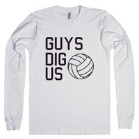 Guys Dig Us-Unisex White T-Shirt