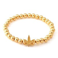 The Gold Weed Bracelet - Designed by Snoop Dogg x King Ice