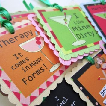 Funny Martini Cocktail Tags or Wine Bottle Label Gift Tags   adorebynat - Paper/Books on ArtFire