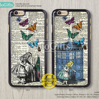 Alice in Wonderland, Doctor Who, iPhone 6 case, iPhone 6 Plus case, iPhone 5 case, iPhone 5S Case, Galaxy S5 S4 S3 Note 2 Note 3, A0402
