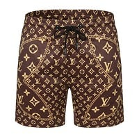 LV Louis Vuitton sports print monogram shorts