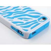 Amazon.com: Pandamimi Stylwire Blue White Zebra Combo Hard Soft High Impact Armor Skin Gel Case with Blue Diamond Stereo Headphone for iPhone 4/4S/4G: Cell Phones & Accessories