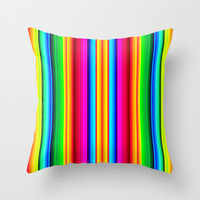 Mexican Blanket Throw Pillow by Rachel Sample