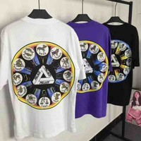 PALACE ZODIGAC New fashion couples short sleeve blouse top t-shirt three color
