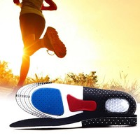 2017 New 1Pair L Size Unisex Orthotic Arch Support Sport Shoe Pad Sport Running Gel Insoles Insert Cushion for Men Women ST1#