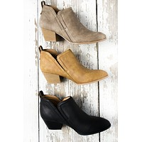 Slip On Distressed Booties