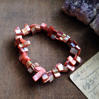 Pink Coral Chunk Stretch Bracelet - Power Bracelet