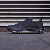 "Nike Air Max 97 Premium Retro Running Sneaker ""Black"" AA3985-001"