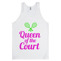 queen of the court tennis shirt