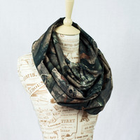 Infinity Scarf Mossy Oak, Camo Scarf, Camouflage Scarf, RealTree MO Tree Stand Real Tree Soft Silky