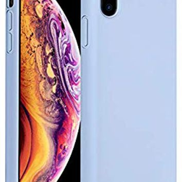 Miracase Liquid Silicone Case Compatible with iPhone Xs (2018)/ iPhone X(2017) 5.8 inch, Gel Rubber Full Body Protection Shockproof Cover Case Drop Protection Case (Clove Purple)
