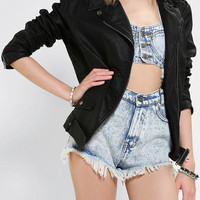 Urban Outfitters - Silence + Noise Faux Leather Moto Jacket