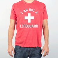 I am Not A Lifeguard-Unisex Heather Red T-Shirt