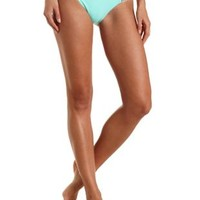 Tribal Print Caged Bikini Bottoms by Charlotte Russe - Mint