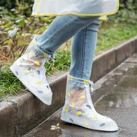 Shoes Cover Thicken Waterproof Boots Cycle Rain Flat Slip