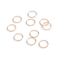 10pcs Women Fashion Hip-Hop Braid Gold Silver Ring Hair Clip Pin Accessory DIY