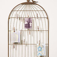 PLASTICLAND - Large Wire Birdcage Photo/Letter Holder