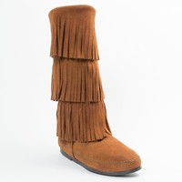 3-Layer Fringe Boot | Minnetonka Moccasin