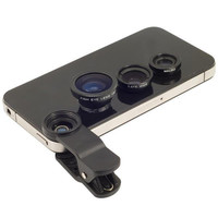 3 In 1 Clip-on Fish Eye Macro Wide Angle Mobile Phone Lens Camera kit for iPhone 5se 5s 6 6s Plus