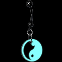 Yin Yang Glow in the Dark Belly Ring | Body Candy Body Jewelry