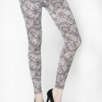 Sexy & Soft Laurel Fishnet Patterned Cotton Fashion Leggings-L/XL