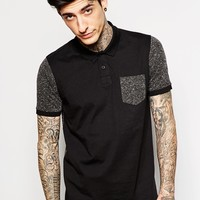 ASOS Polo Shirt With Neppy Back & Sleeves
