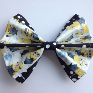 Despicable Me Duct Tape and Fabric Hair Bow