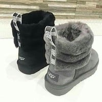 UGG Hot Selling Classic Short Snow Boots Casual Bow Knot Short Thermal Boots Shoes