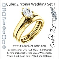 CZ Wedding Set, featuring The Kaela engagement ring (Customizable Oval Cut Solitaire with Stackable Band)