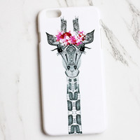 Retro Fashion Giraffe iPhone Case