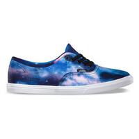 Vans Cosmic Galaxy Authentic Lo Pro Womens Shoes Black/True White  In Sizes