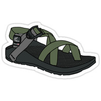 'Green Chaco' Sticker by Nancy Morgan
