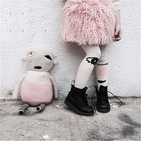 Fashion Print Cute Eyes Children Pantyhose Cotton Kid Tights For Baby Girl 1-7 Years Autumn Winter Clothing