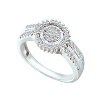 Diamond Fashion Ring in 10k Gold 0.54 ctw