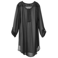 Mossimo® Women's Plus-Size Tab-Sleeve Long Tunic Top - Assorted Colors