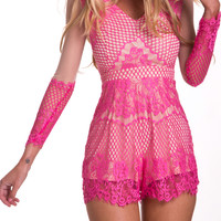 Decadent Playsuit in Pink