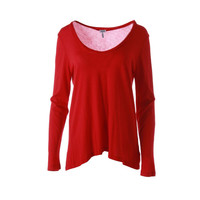 Splendid Womens Scoop Neck Long Sleeves Knit Top