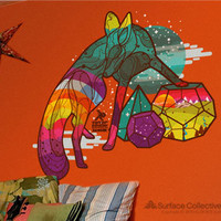 Surface Collective's Wall Tattoos / Wall Decals / Laptop Decals - Product - In the Forest Where You Sleep-Fox