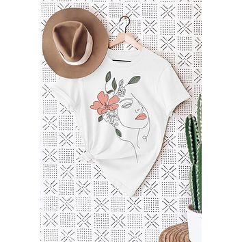 Flower Lady Graphic Tee