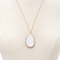 Faux Stone Pendant Necklace | Forever 21 - 1000222994