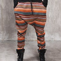 Drop Crotch Wave Cozy Knited Cotton Fleece Jersey Pants-Special Price