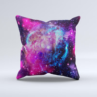The Bright Trippy Space ink-Fuzed Decorative Throw Pillow